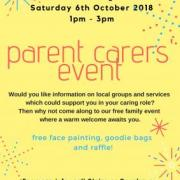 Parent Carer Event – Saturday 6th October