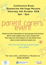 Parent Carer Event – Saturday 6th October