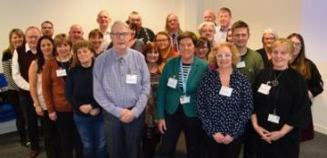 Liz McWhinney (front second right) and Kate Bell (front second left) with representatives from Lanarkshire Links and other mental health groups at a recent Mental Health & Wellbeing Strategy focus group.